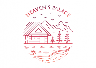 Heaven's Palace graphic t shirt
