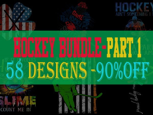 Hockey Bundle Part 1 – 90% OFF – 58 Designs