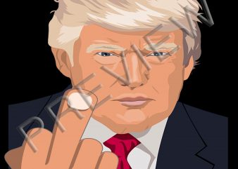 Trump Impeach This middle finger 2020 funny tshirt design PNG