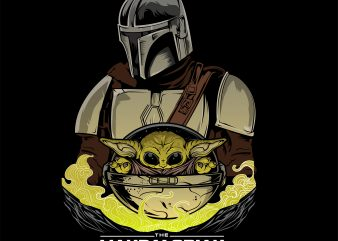 baby yoda the mandalorian t shirt template