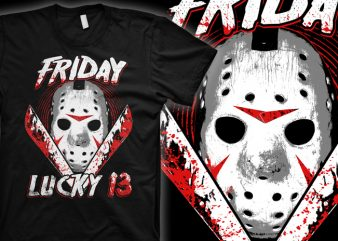Friday Lucky 13 buy t shirt design artwork
