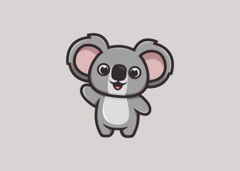 Cute Koala t shirt vector file