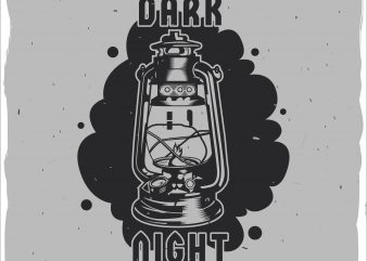 Dark light t shirt vector illustration