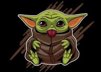 baby yoda print ready shirt design