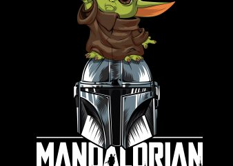 mandalorian baby yoda design for t shirt
