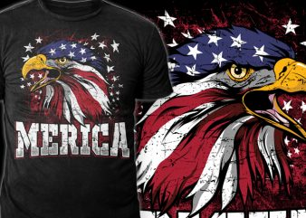 MERICA t shirt designs for sale