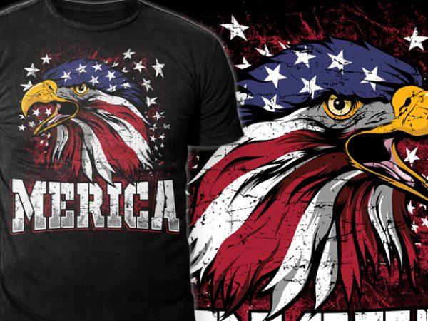 MERICA graphic t-shirt design