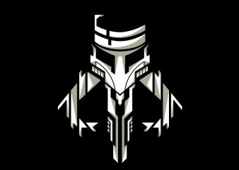 Mandalorian Crest II t shirt designs for sale
