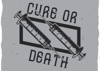 Medical syringe label vector t shirt design for download