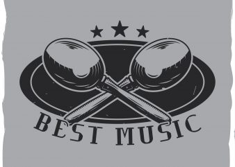 Music T-shirt design