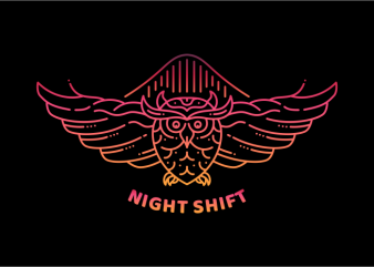 Night Shift graphic t-shirt design