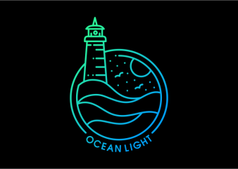 Ocean Light t shirt design online