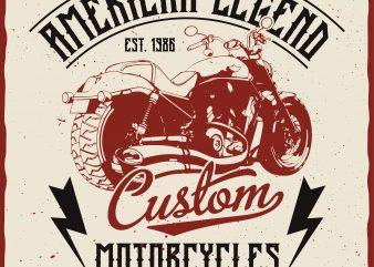 American Legend. Editable vector t-shirt design.