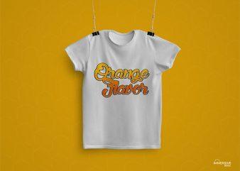 Orange Flavor T-Shirt Design
