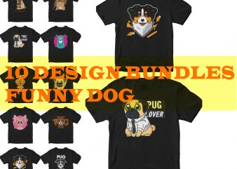 funny pug t shirt graphic design