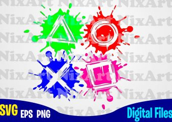 PS4, PalyStation, Play Station, PS4 svg, PlayStation svg, Funny Gamer design svg eps, png files for cutting machines and print t shirt designs for sale t-shirt design png