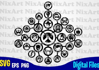 Overwatch, Blizzard, Logo, Game, Funny Overwatch design svg eps, png files for cutting machines and print t shirt designs for sale t-shirt design png