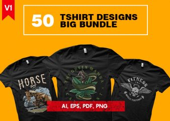 50 Tshirt Designs Big Bundle v1