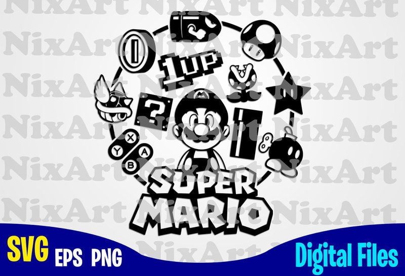 Supermario Super Mario Mario Super Mario Svg Funny Gamer Design Svg Eps Png Files For Cutting Machines And Print T Shirt Designs For Sale T Shirt Design Png Buy T Shirt Designs
