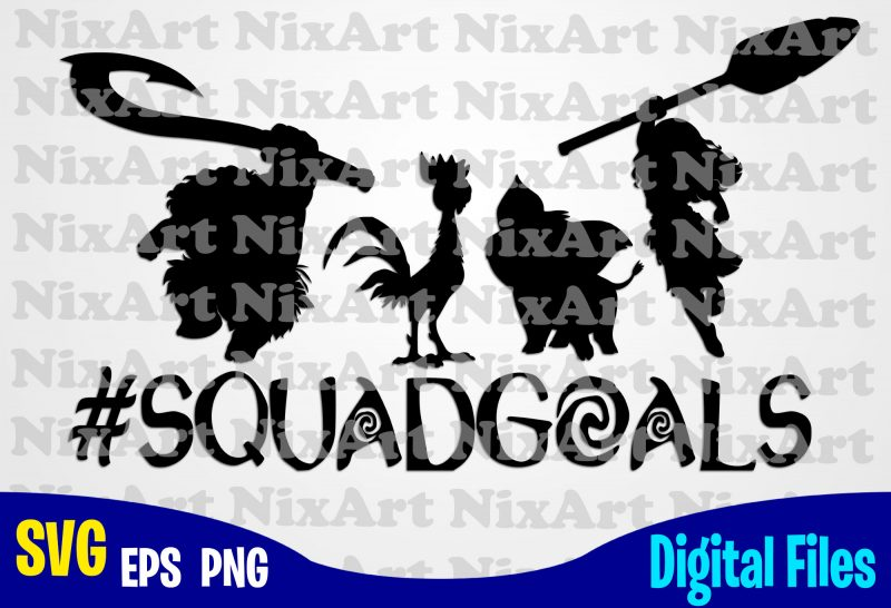 Squadgoals Moana Heart Maui Svg Squadgoals Svg Moana Svg Funny Moana Design Svg Eps Png Files For Cutting Machines And Print T Shirt Designs For Sale T Shirt Design Png Buy T Shirt