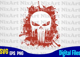 Punisher, Skull, Logo, Blood Blot, Frank Castle, Marvel, Punisher svg, Marvel svg, Funny Superheroes design svg eps, png files for cutting machines and print t shirt designs for sale t-shirt design png