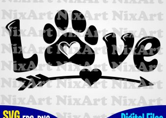 Love, Heart, Arrow, Dog, Dog, Dog lover, Pet, Funny animal design svg eps, png files for cutting machines and print t shirt designs for sale t-shirt design png