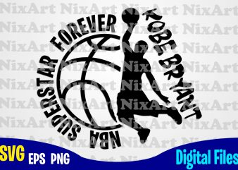 NBA Superstar, Kobe Bryant, Basketball, Ball, Sports , Basketball svg, Ball svg, Sports svg, Funny Basketball design svg eps, png files for cutting machines and print t shirt designs for sale t-shirt design png