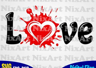 Blob, Ink, Blot, Love, Valentine, Heart, Funny design svg eps, png files for cutting machines and print t shirt designs for sale
