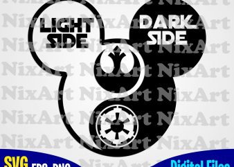 Yin Yang svg, Mickey mouse svg, Mickey head svg, star wars svg, eps, png files for cutting machines and print t shirt designs for sale