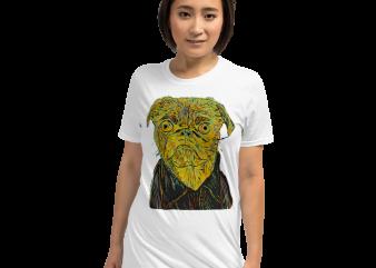 Dog Pug – Dog Love Graffiti Style Illustration png buy t shirt design artwork