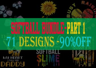 Softball Bundle Part 1 – 90% OFF – 71 Designs