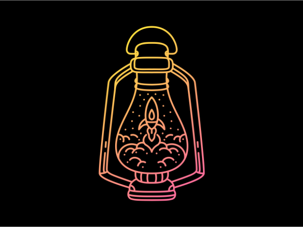 Space Lantern commercial use t-shirt design
