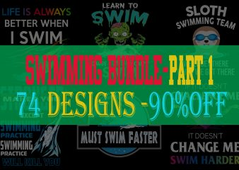 Swimming Bundle Part 1 – 90% OFF – 74 Designs