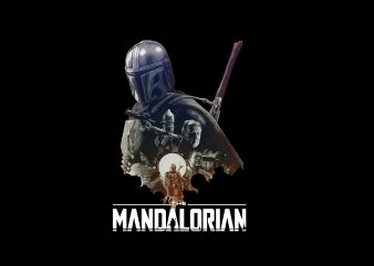 THE MANDALORIAN BABY YODA, STARWARS FILM t shirt designs for sale