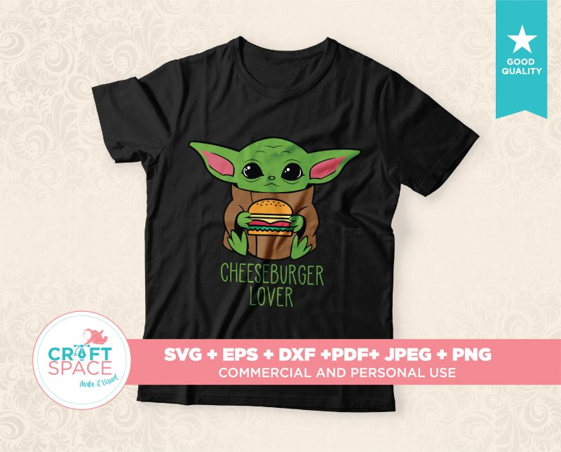 Baby Yoda svg Full Layered Bundle File DXF PDF Cut File For Cricut Explore, Silhouette Cameo 3 commercial use t shirt designs