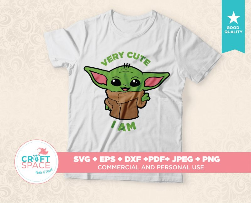 Baby yoda svg full layered bundle file svg dxf pdf cut file for cricut explore, silhouette cameo buy t shirt design