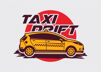 Taxi Drift t shirt designs for sale