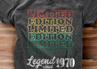 Legend Since 1970 vector shirt design