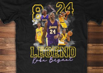 KOBE BRYANT – BLACK MAMBA print ready t shirt design