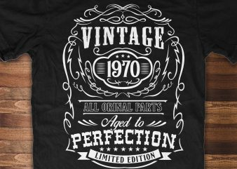Aged to Perfection – 50th Birthday t shirt design template
