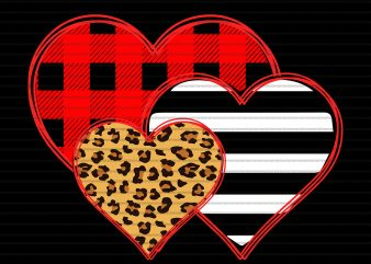 Heart png, Heart valentine,Three Hearts Buffalo png,Three Hearts Buffalo ,Three Hearts Buffalo shirt,Three Hearts Leopard Buffalo Plaid Valentine's day png,Three Hearts Leopard Buffalo Plaid Valentine's day t shirt design for sale