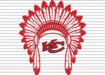 KC Chiefs Headdress SVG, Kansas City svg,KC Chiefs Headdress,KC Chiefs Headdress png,Kansas city chiefs svg,Kansas city chiefs,Kansas city chiefs design