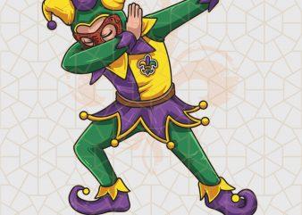 Dabbing Joker Mardi Gras Dab PNG Download – Mardi Gras Gifts t shirt vector illustration