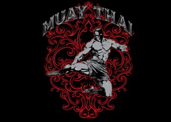Muay Thai Tshirt design