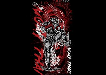 Muay Thai 3 t shirt design for sale