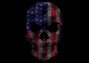 Usa Flag Skull buy t shirt design artwork