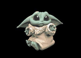 Baby Yoda 3 t shirt template