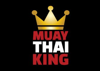 muay thai king crown vector buy t shirt design