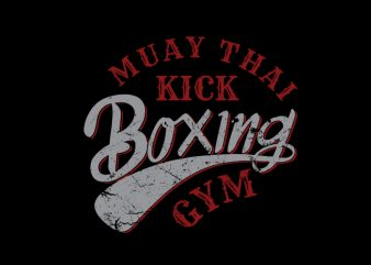 Muay Thai 7 vector tshirt design for sale