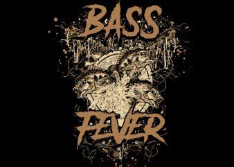 Big bass fever t shirt design for sale